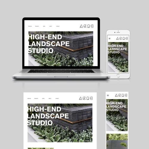 High End Landscape Website Design