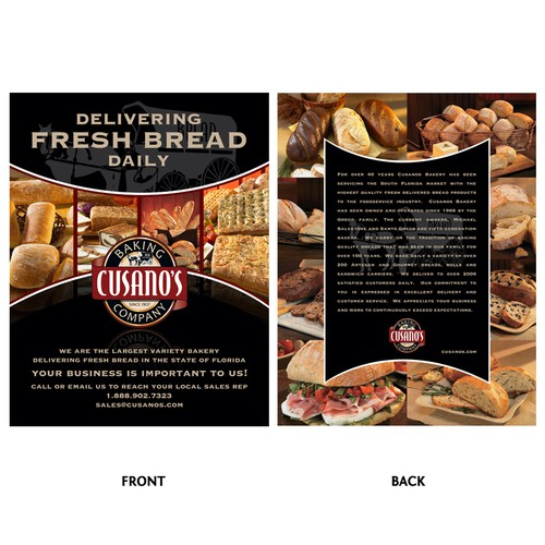 Cusano's Bakery Double Sided Flyer