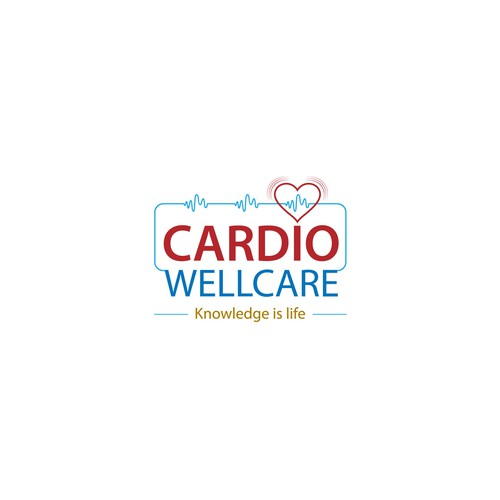 bold logo concept for CARDIO WELLCARE.