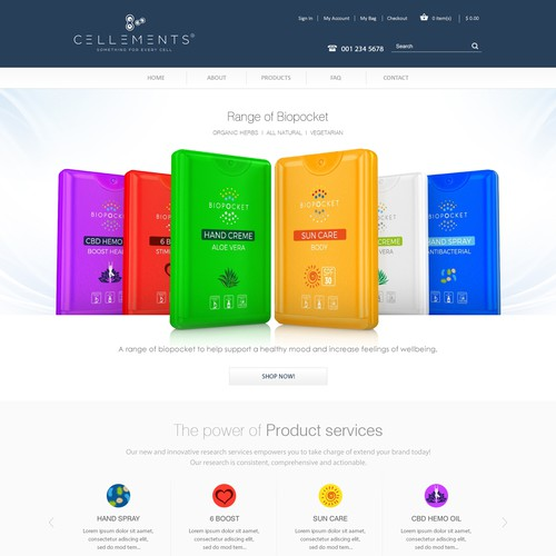Webdesign for a brand in health care