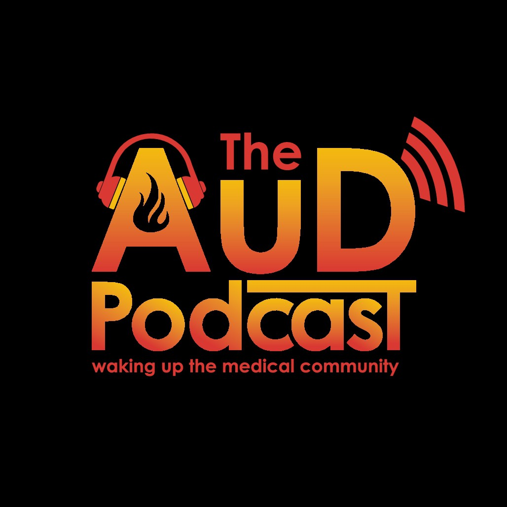 The AuD Podcast logo (must be a podcast logo)