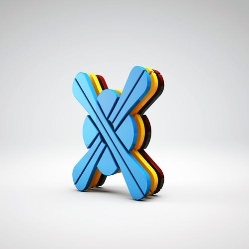 Réalisation logo 3D pour Skifamily