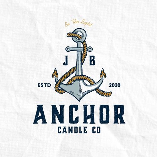 Logo concept for Anchor Candle CO
