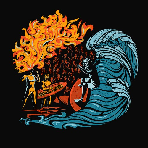 Surfing Fire