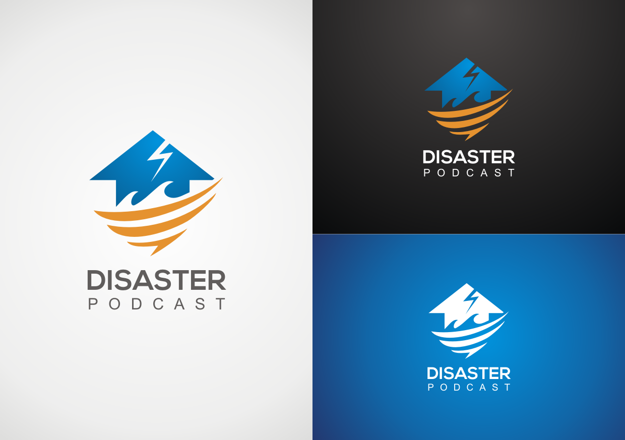 Create a logo for the brand new Disaster Podcast