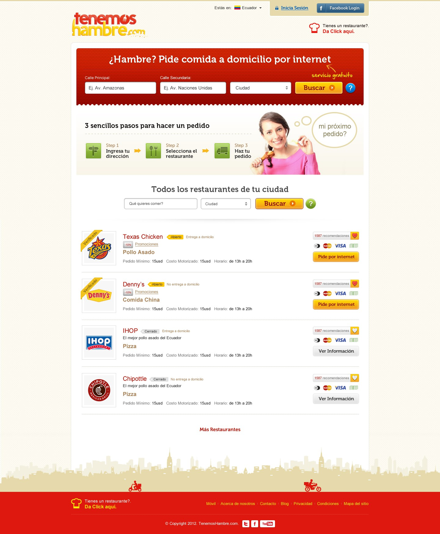 Create the next website design for tenemoshambre.com