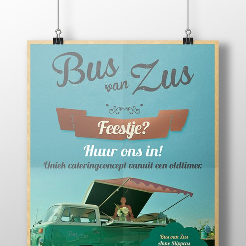 Klus een flyer voor Bus van Zus