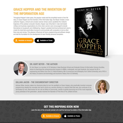 Landing page for Grace Hopper documentary and book