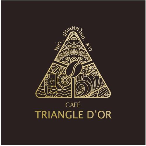 Logo pour une société d'import et de distribution de café venant du Triangle d'or