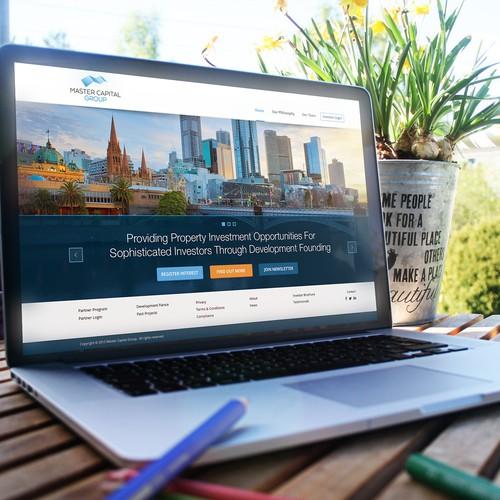 Master Capital Website Design