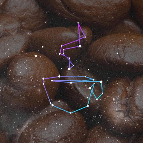 Logo written in the stars for Coffee Constellation Blog