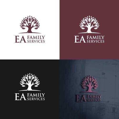 bold logo concept for EA FAMILY SERVICES.