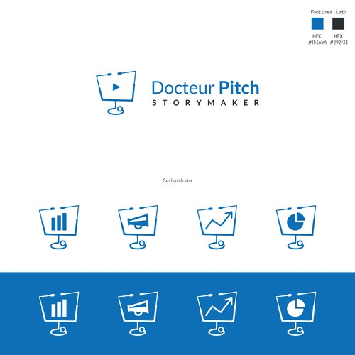 Logo & Custom icons for Docteur Pitch