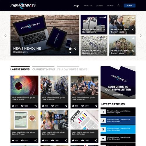 Web Design for a News Portal