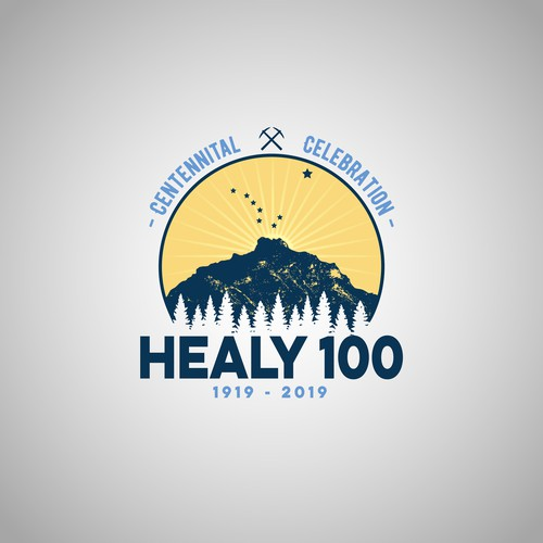 Logo concept for the centenary of the city.