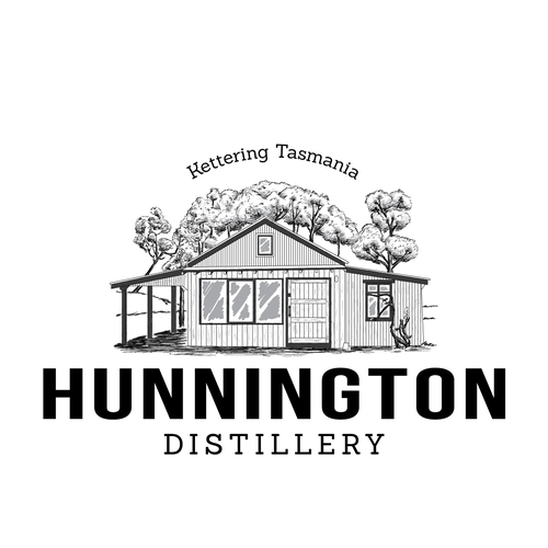 Whiskey and Gin Distillery Logo design