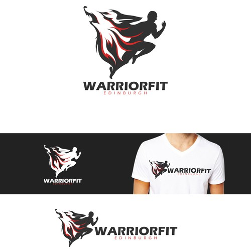 Strong Logo design concept for Warrior Fit Edinburgh