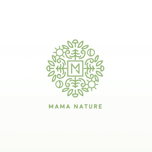 logo concept for organic products with symbols