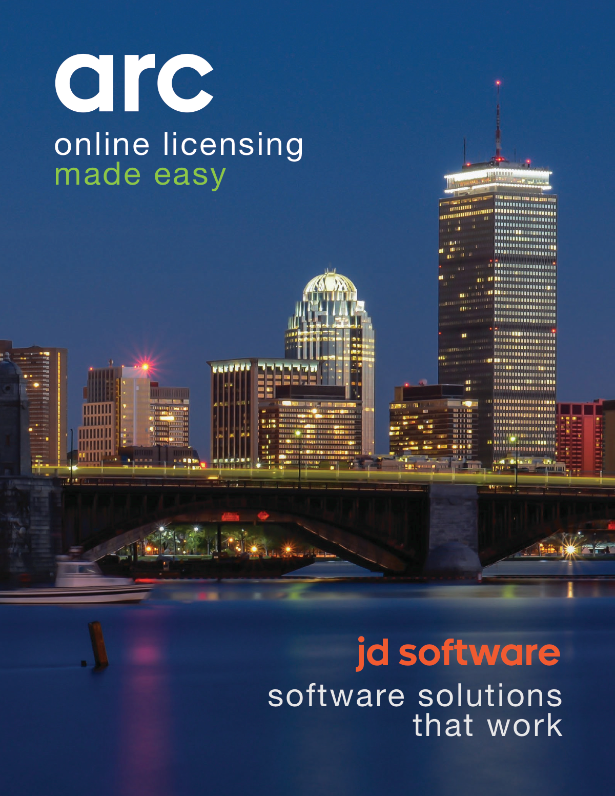 Design of a software product brochure