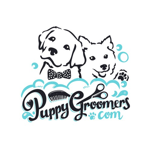 Puppy Groomers Logo