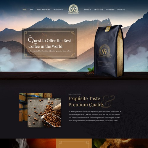 Design for luxury coffee brand