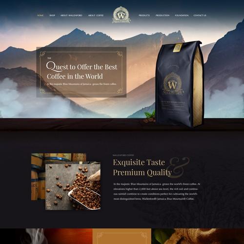 Design for luxury coffee brand