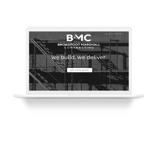 Landing page for BMC construction company