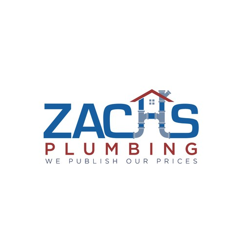 Typography Modification Logo For Zach's Plumbing