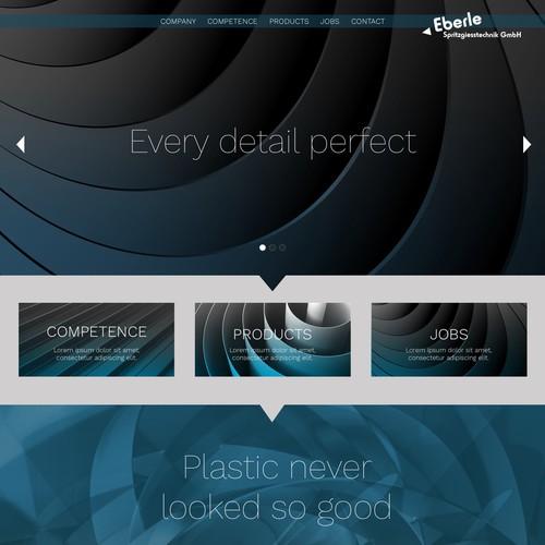 Web design for a plastic manufacturer