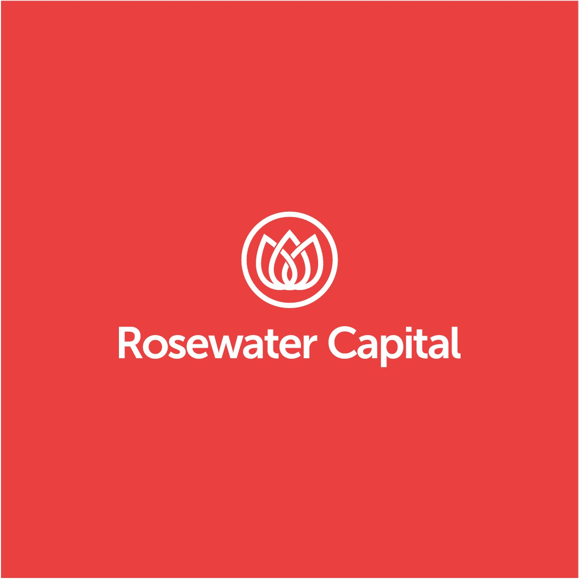 Create a modern/stylish/clean logo for Rosewater Capital