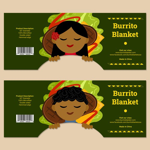 Fun Creative Packaging for Burrito Blanket