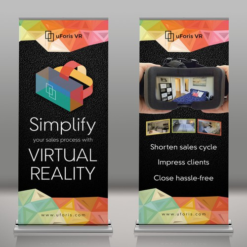 pull-up banners for uForis VR