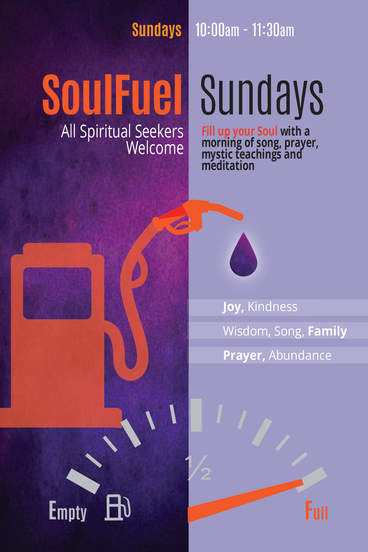Soul Fuel Sundays Flyer