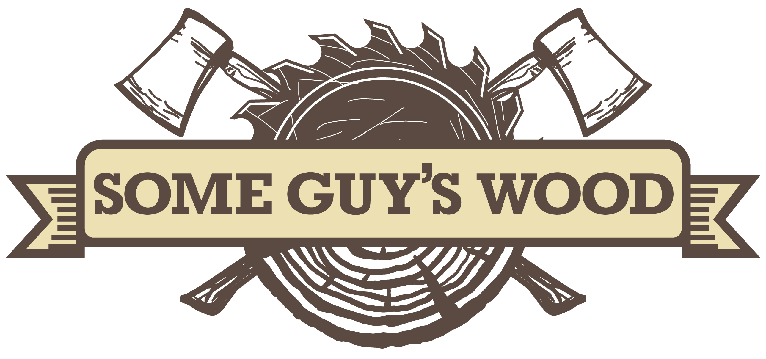 Some Guy's Wood needs a new catchy logo