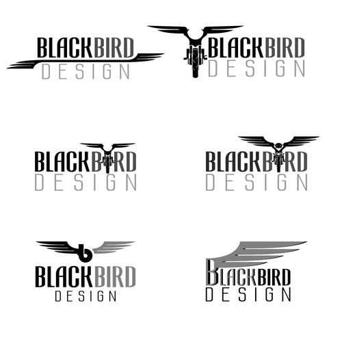 Blackbird design logo