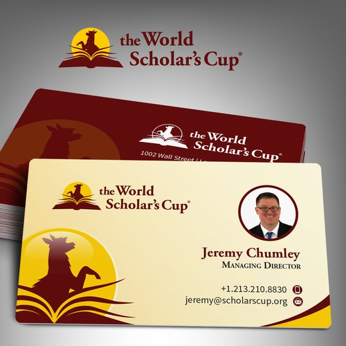 Business Card Mock up for Scholar's Cup