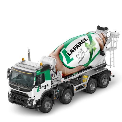 Lafarge mixer truck design wrap