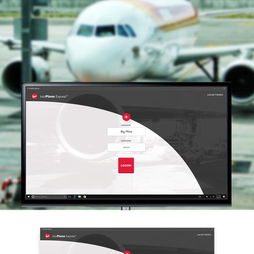 UI/UX design for a Kiosk application