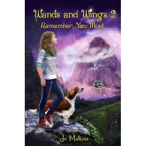 Young Readers Fantasy Book Cover- Wands and Wings 2