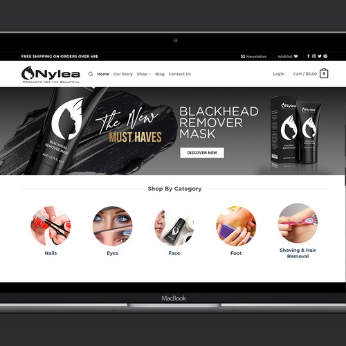 Banner for Online Beauty Store