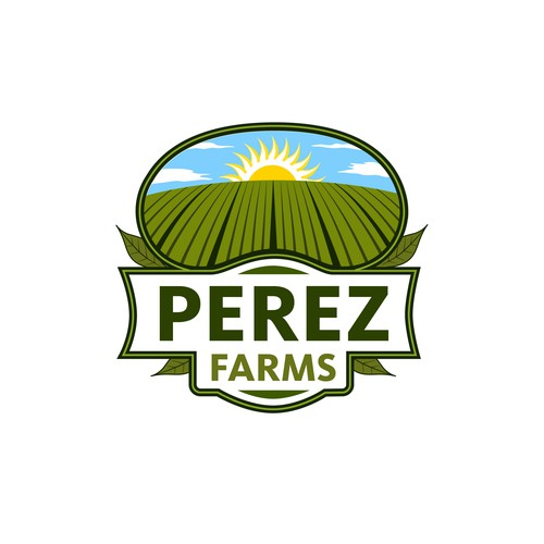 Perez Farms Logo Design