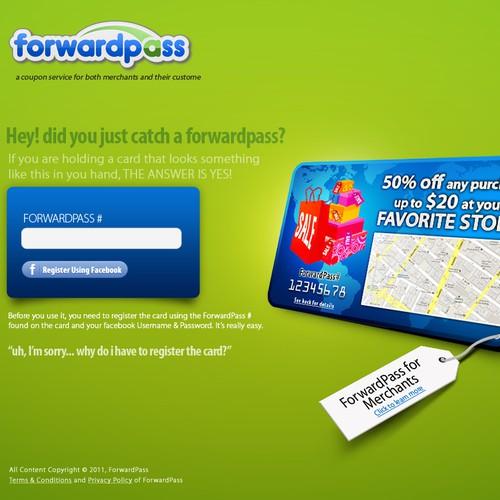 website design for ForwardPass