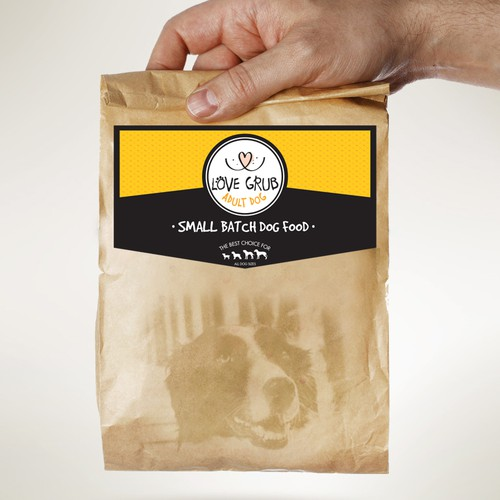 Create the next product label for Love Grub Pet Food