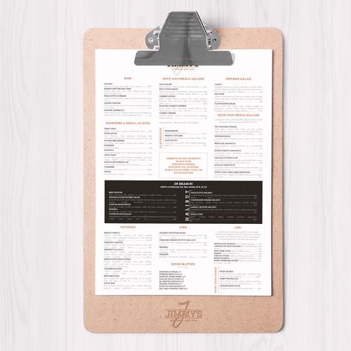 Jimmy's clan menu design