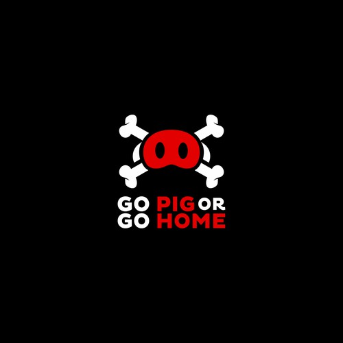Create a fun, local and inspired logo for 'Go Pig or Go Home'