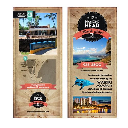 Create the brochure for Hawaii's newest amd hottest Luau