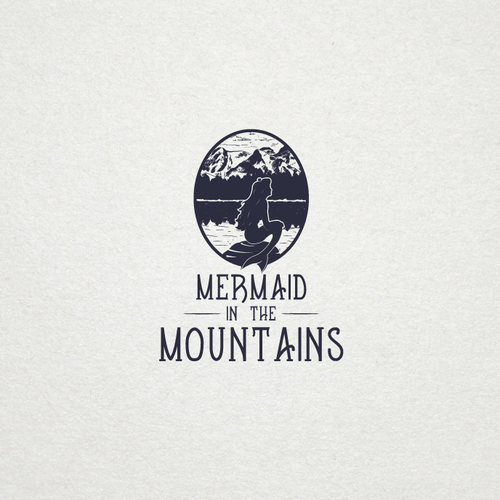 Mermaid and mountains logo concept :)