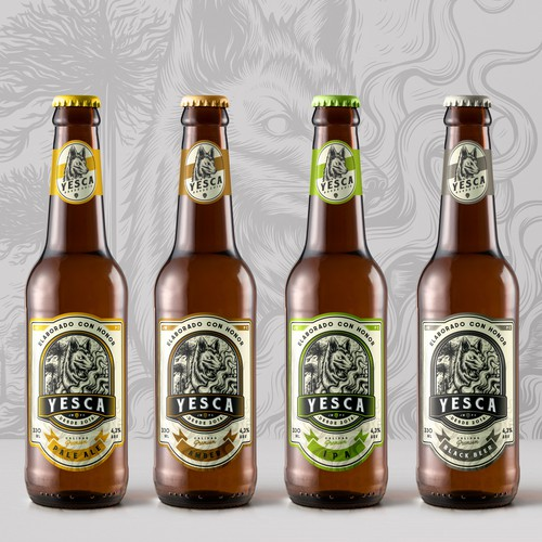 Badass Labels design for Yesca Beer