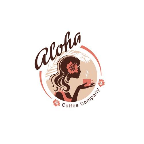 Logo design for Aloha Coffee Company.