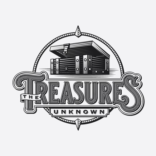 Vintage logo concept for secondhand goods store